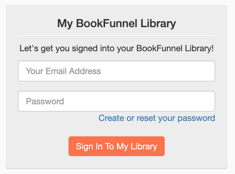 BookFunnel listen in browser page