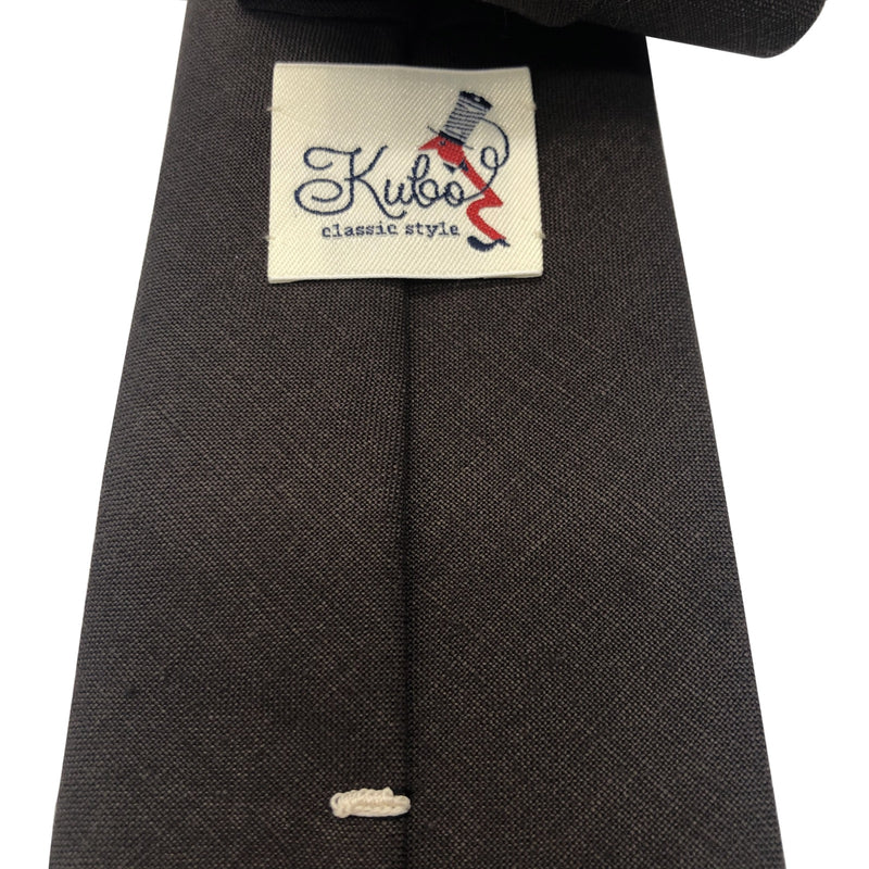 Irish linen dark brown tie hand made
