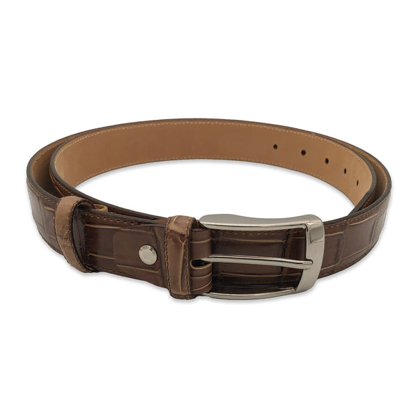 Kubo Classic calf belt in camel color
