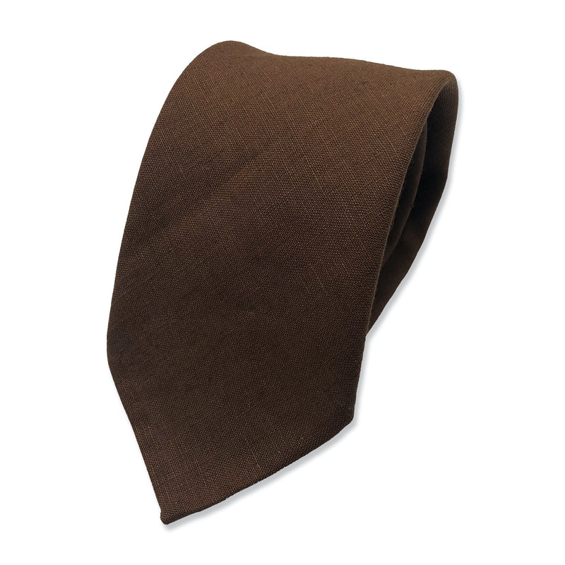 Irish linen brown tie
