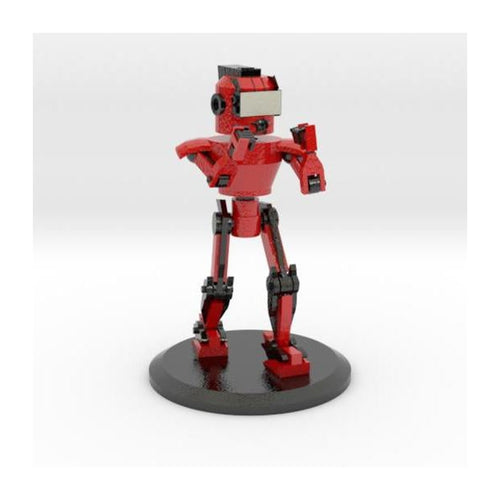 ROBOT (Red, Black) 3d printed