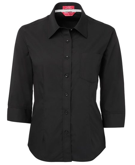 Hospitality Ladies 3/4 Sleeve Contrast Placket Shirt 4PCL3