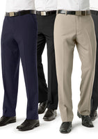 Classic Mens Flat Front Tailored Pant