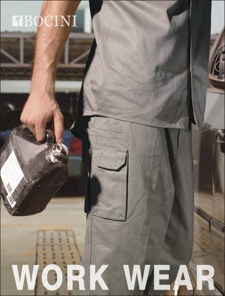 Cotton Drill Cargo Work Pants with Utility Pockets WK1235ST
