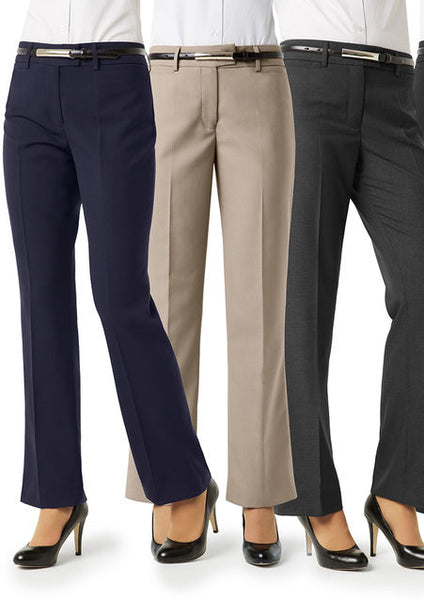 Classic Ladies Flat Front Tailored Pant