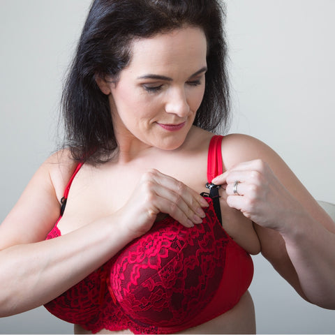 Red lace Plus-size Maternity bra