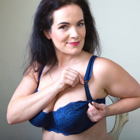 Blue lace Nursing Bra