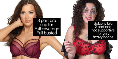 Styles of bra, Viva Curve plus-size lingerie, Plus-size bras, full cup coverage
