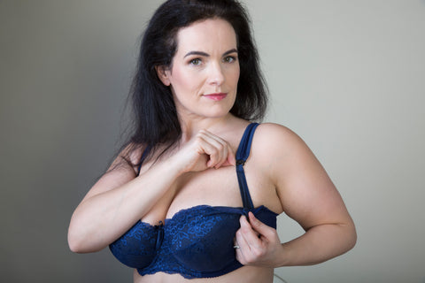 Deep Blue Lace Plus-size bra