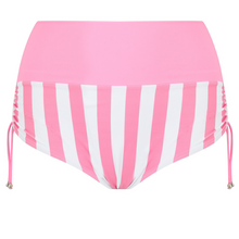 Load image into Gallery viewer, pink bikini bottoms, pink and white stripe plus size two piece swimsuit