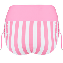 Load image into Gallery viewer, pink brief, bottoms, drawstring side, versatile, fold over and wear as high waisted or midi