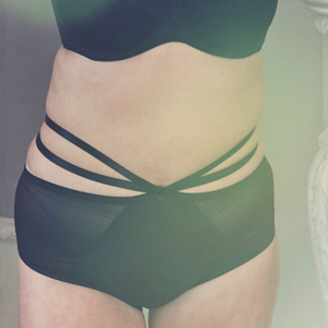 black plus size high waisted panties
