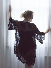 Load image into Gallery viewer, Luxury Black Lace Kimono