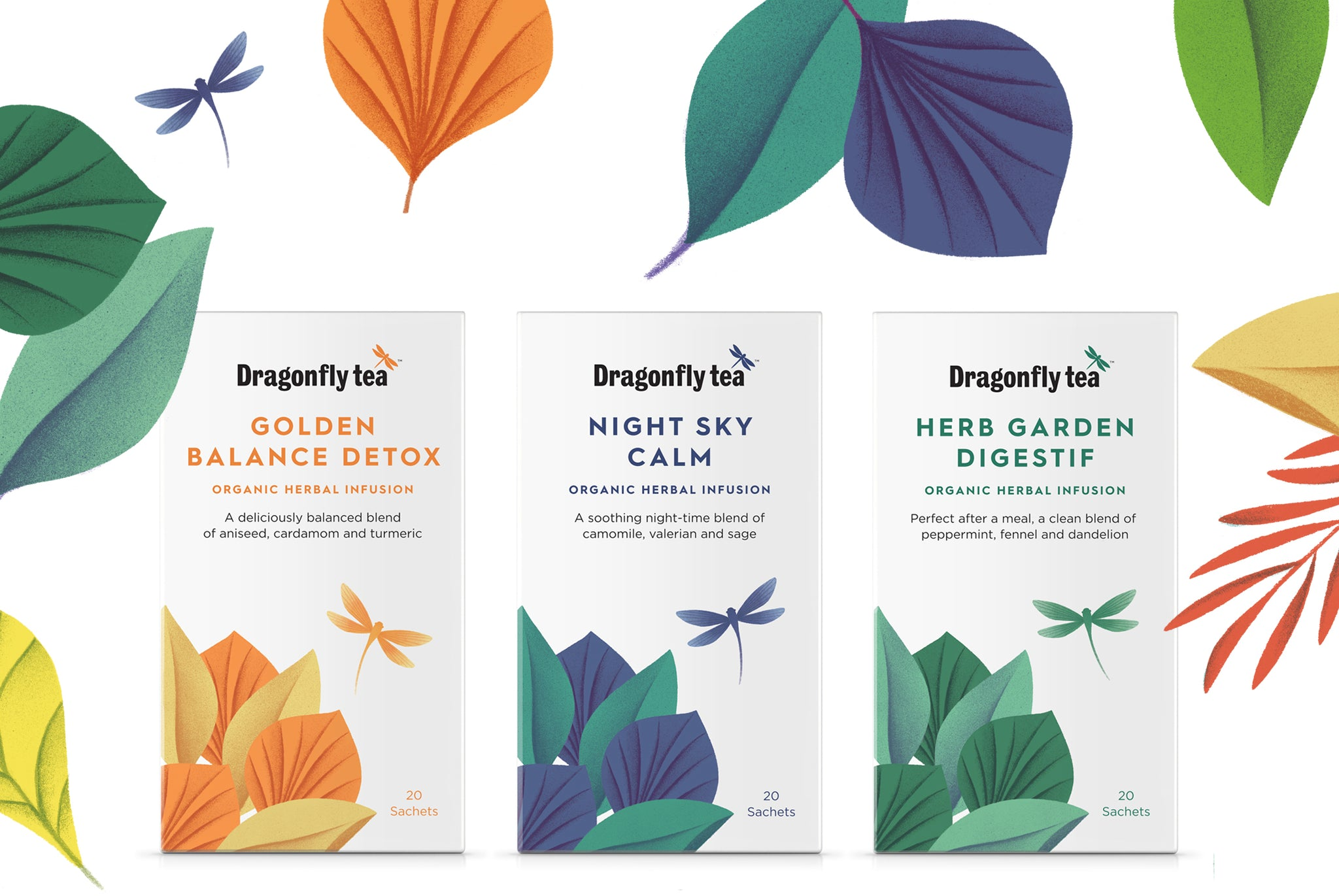 New delicious Dragonfly herbal tea infusions