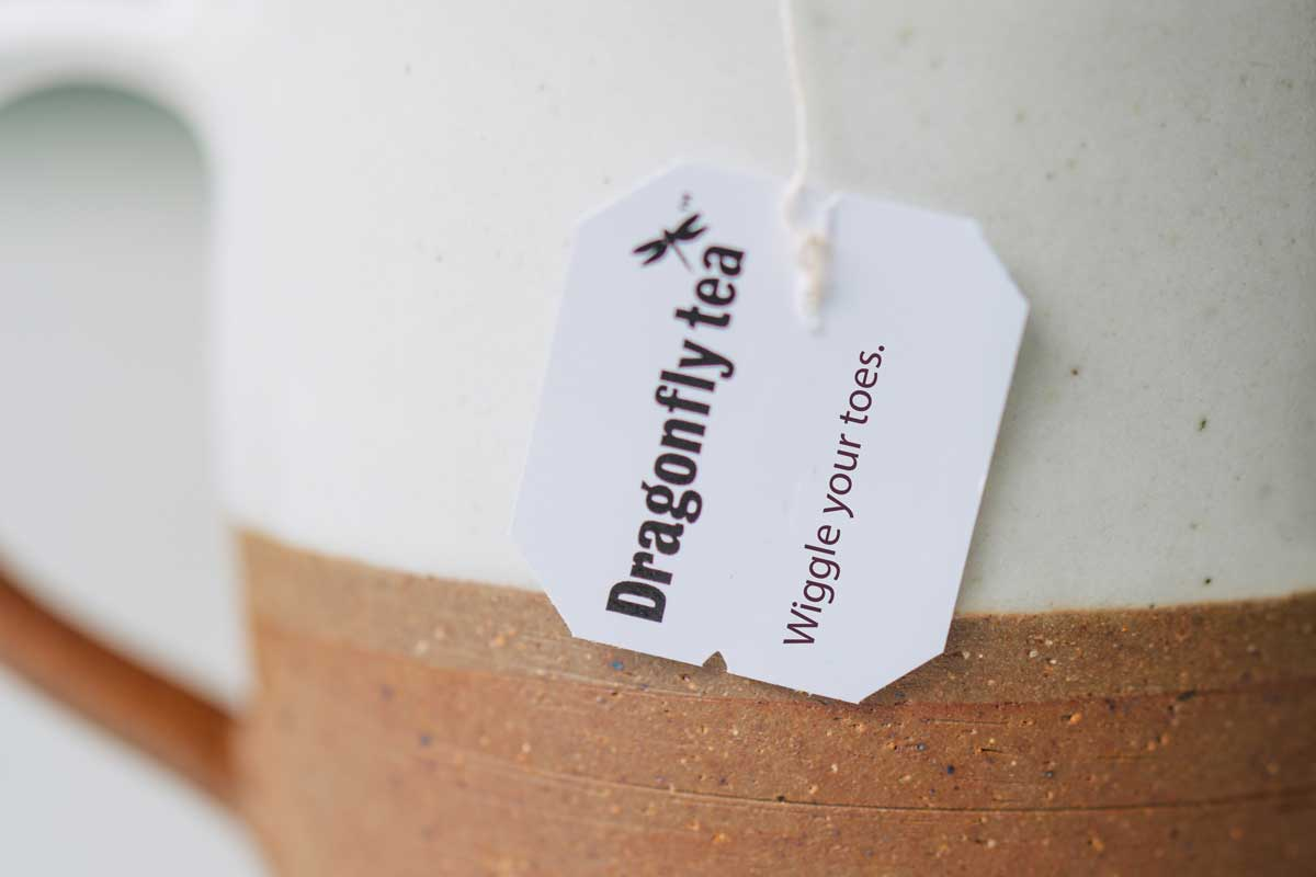 Tea tag that says Wiggle Your Toes