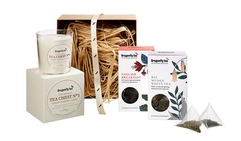 tea and candle gift box