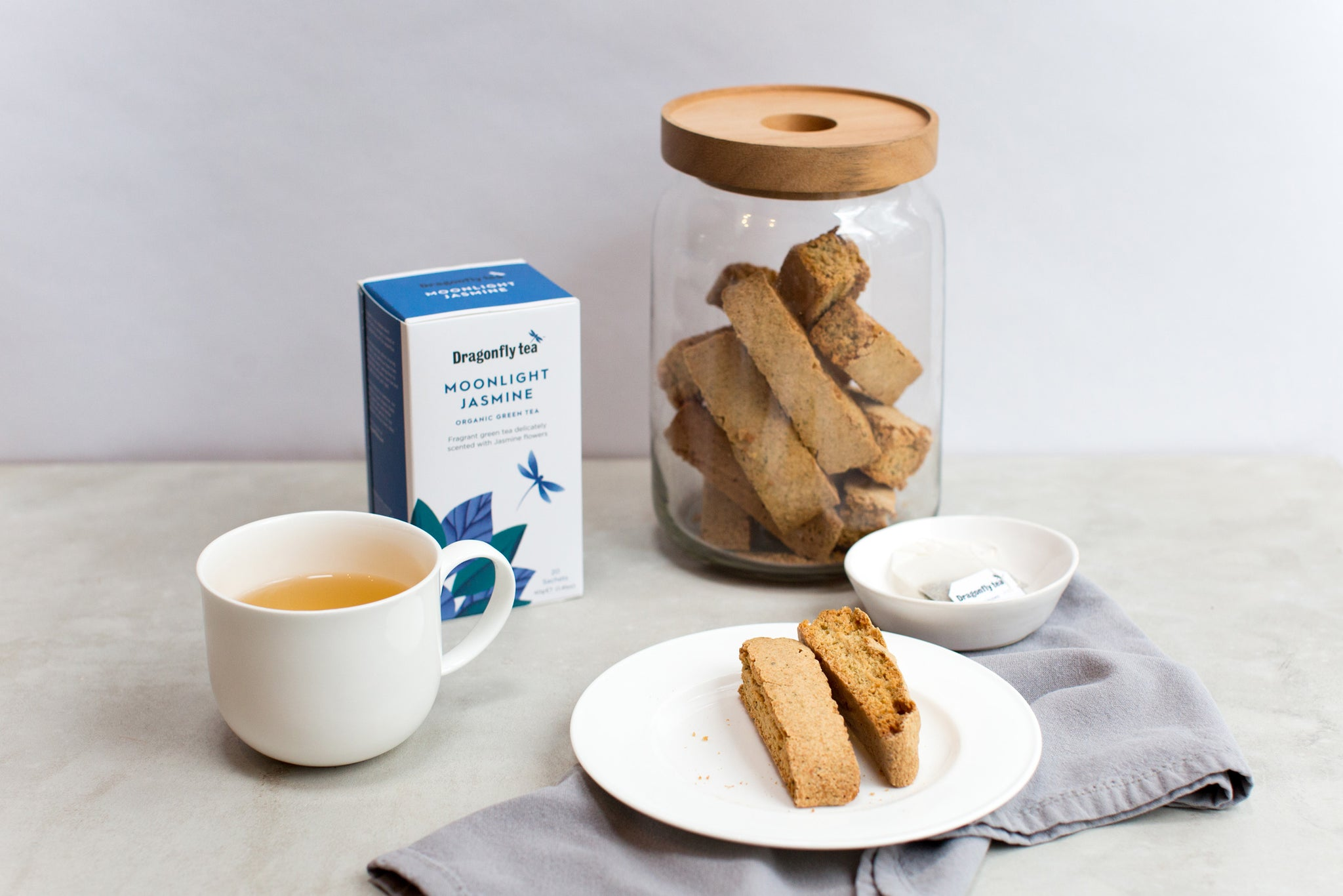 Jasmine tea biscotti recipe