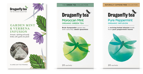 Delicious Dragonfly mint teas