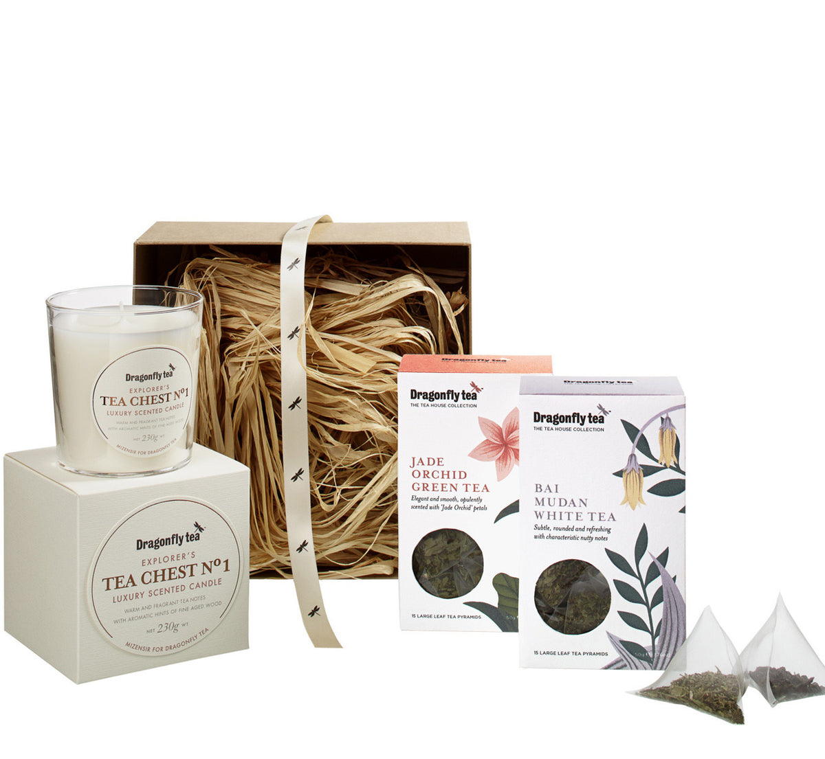 luxury tea box and candle set