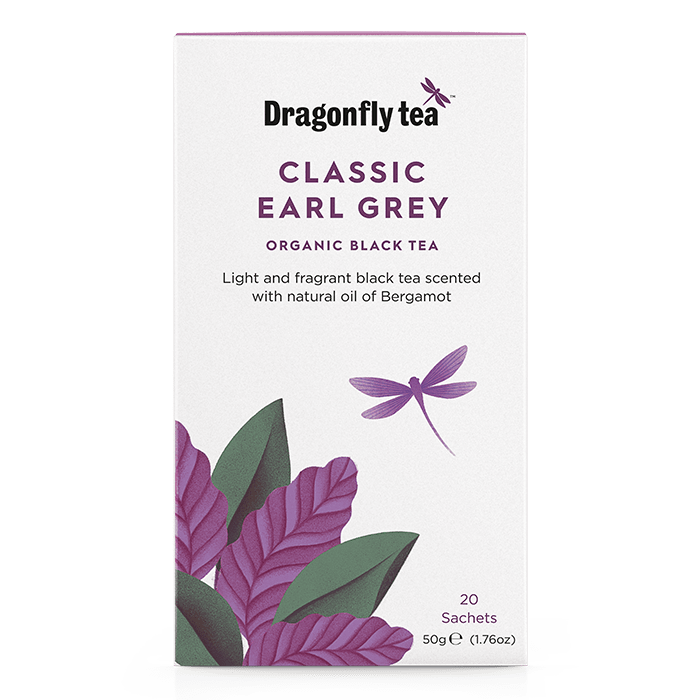 Classic Earl Grey Organic Black Tea - Dragonfly Tea