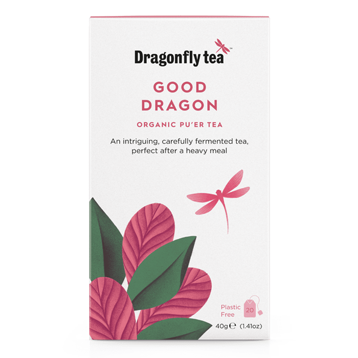 Good Dragon Organic Pu'er Tea - Dragonfly Tea