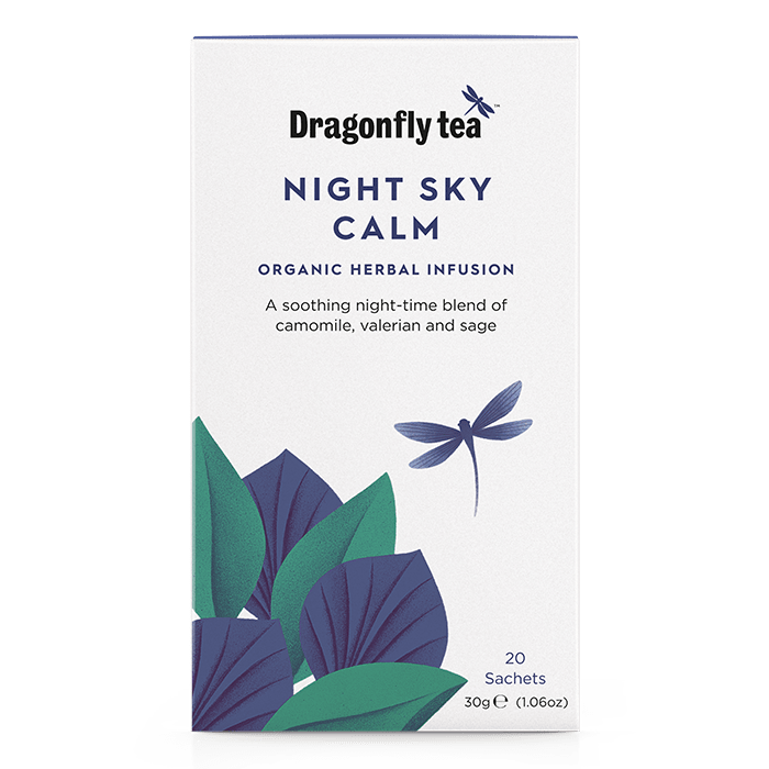 Night Sky Calm Organic Herbal Infusion - Dragonfly Tea