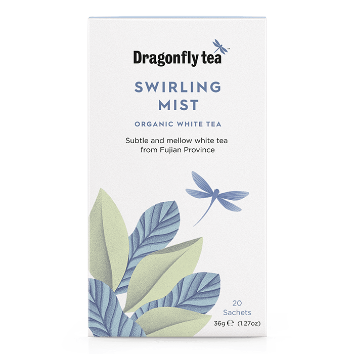 Swirling Mist Organic White Tea - Dragonfly Tea
