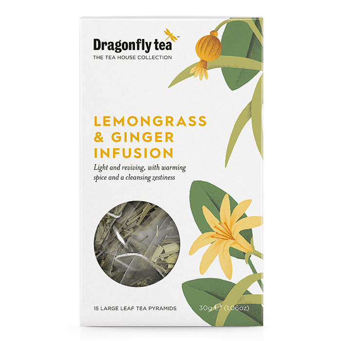 Lemongrass and Ginger Infusion - Dragonfly Tea
