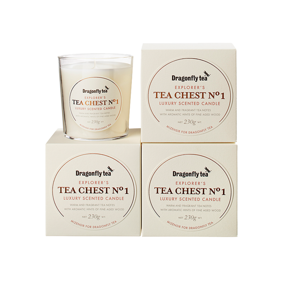 Tea Chest No1. Scented Candle - Dragonfly Tea