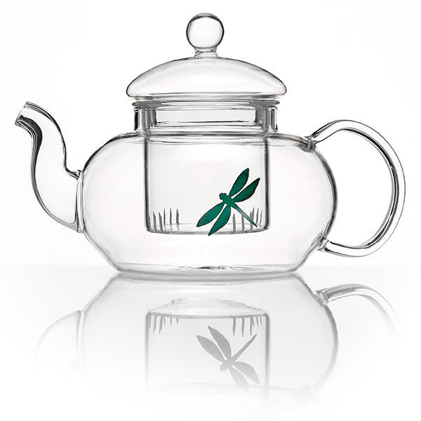 Glass teapot with infuser basket