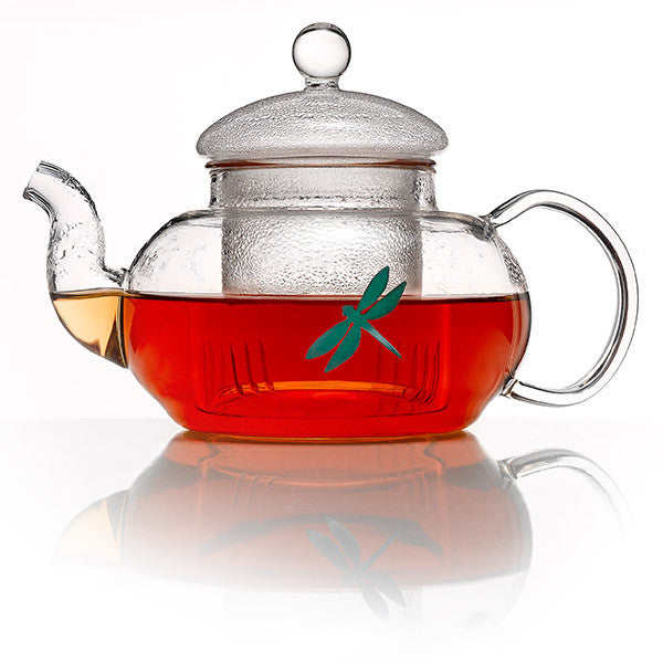 Glass teapot with infuser - Dragonfly Tea
