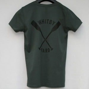 Womens Oars T shirt in Bottle Green
