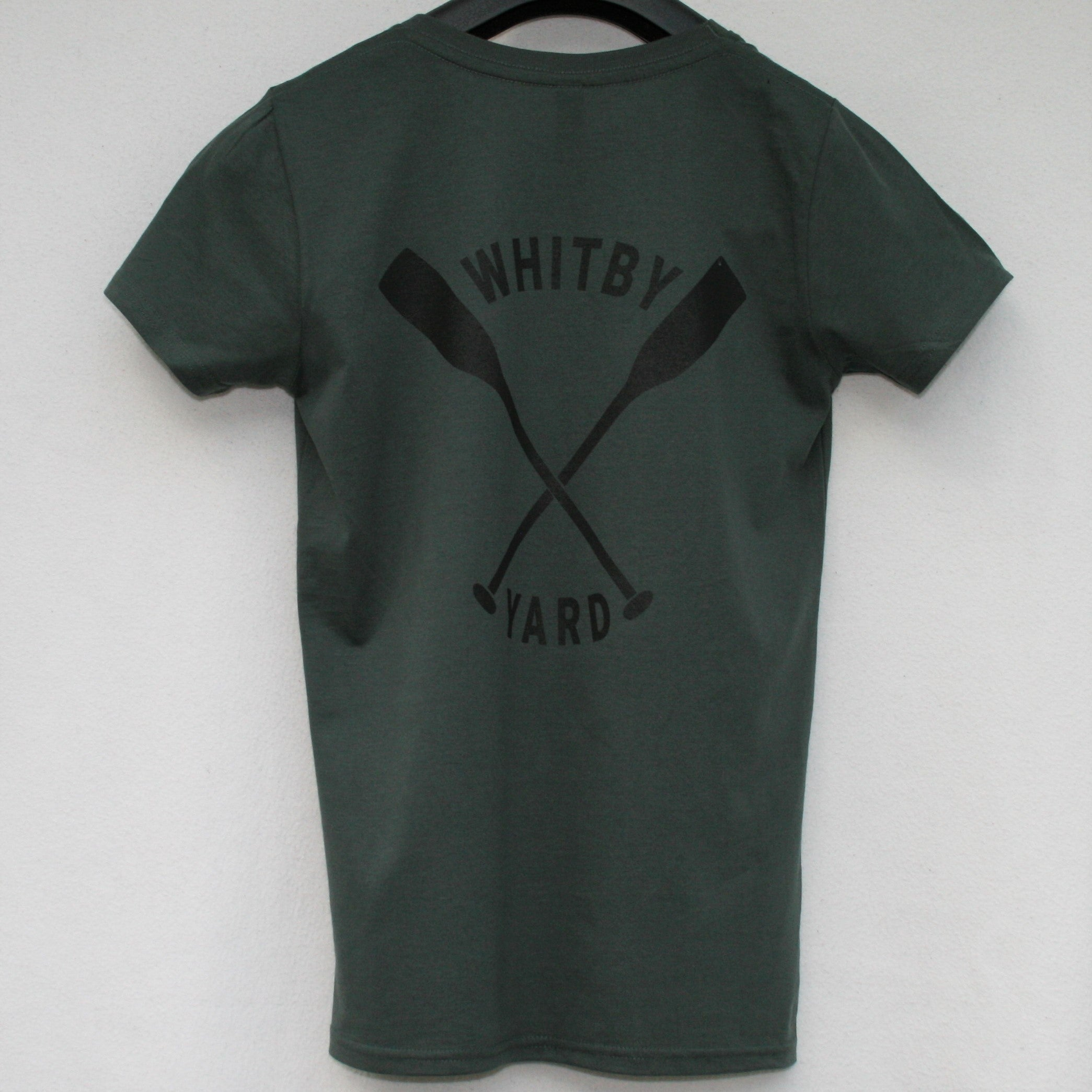 Womens Oars T shirt in Dark Grey