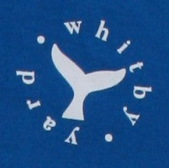 Unisex Whale tail T shirt in Bright Blue