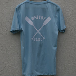 Unisex Oars T shirt in Light Blue
