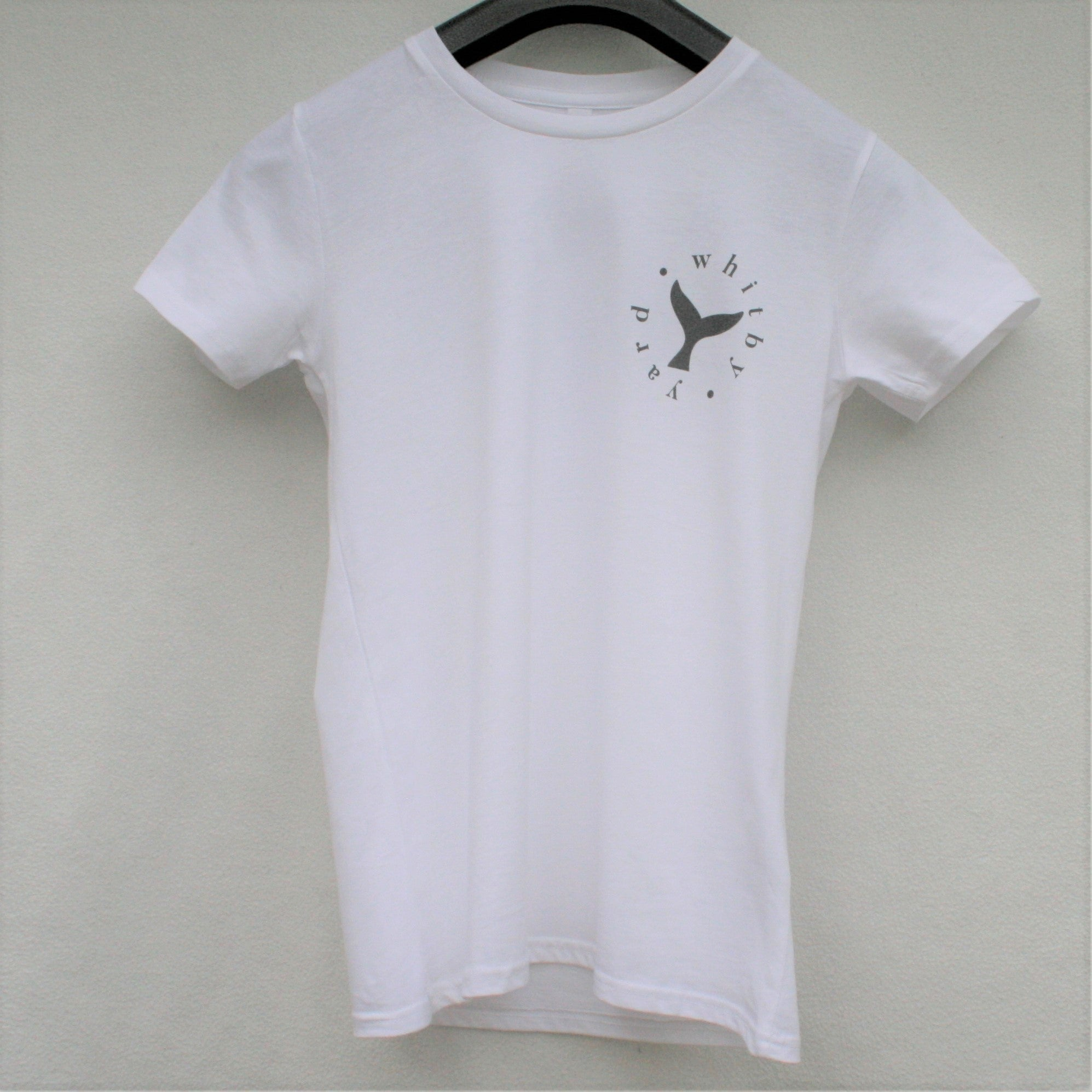 Unisex Whale tail T shirt in White