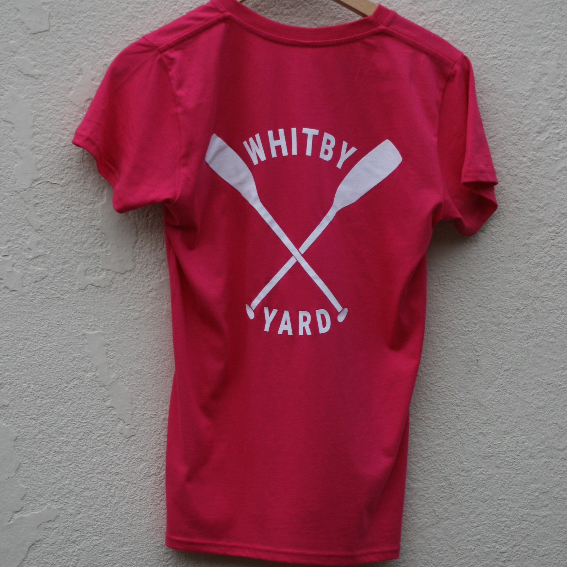 Womens Oars T shirt in Bright Pink