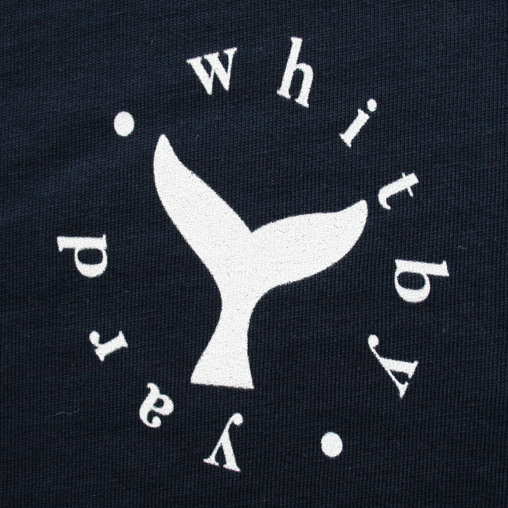Unisex Whale tail T shirt in Denim Blue