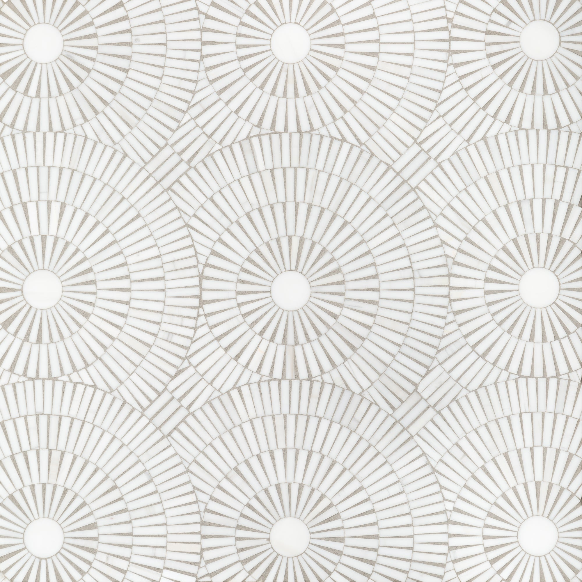 Motor City Circles Bianco Dolomiti Dolomite Mosaic product photo