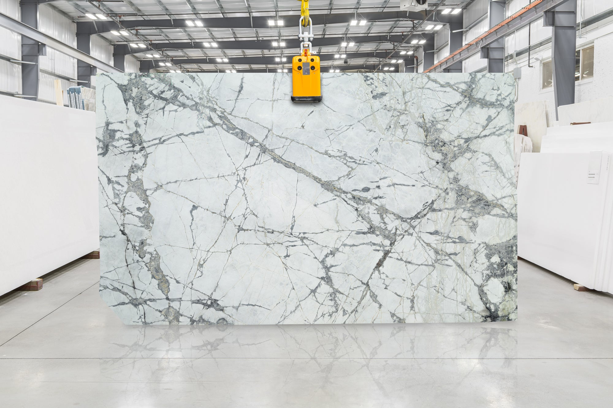 Invisible Grey Marble Slab 1-1/4