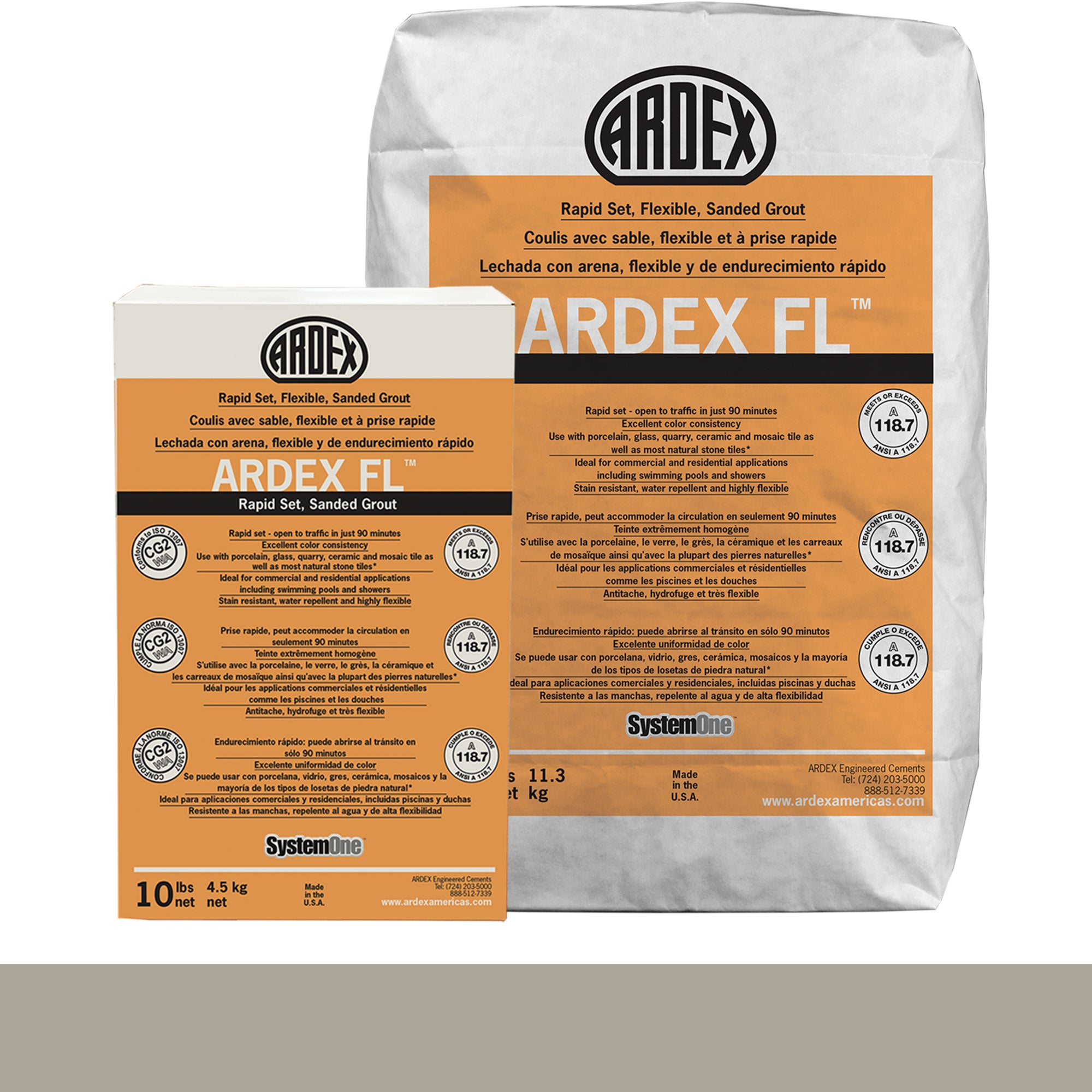 Ardex Fl Grout 18-Dove Gray 10-Lb Bag Grout Sanded product photo