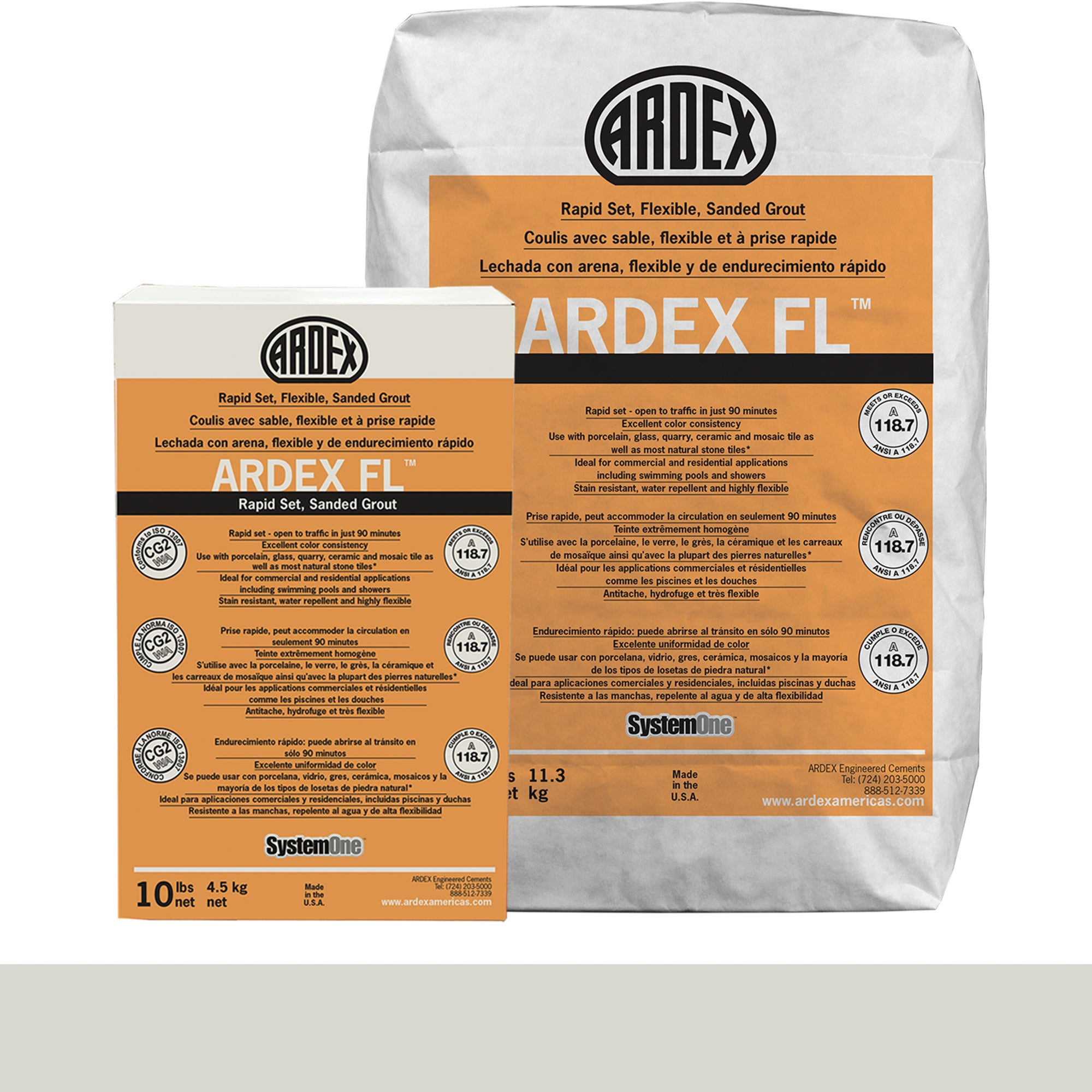 Ardex Fl Grout 02-Fresh Lily 10-Lb Bag Grout Sanded product photo