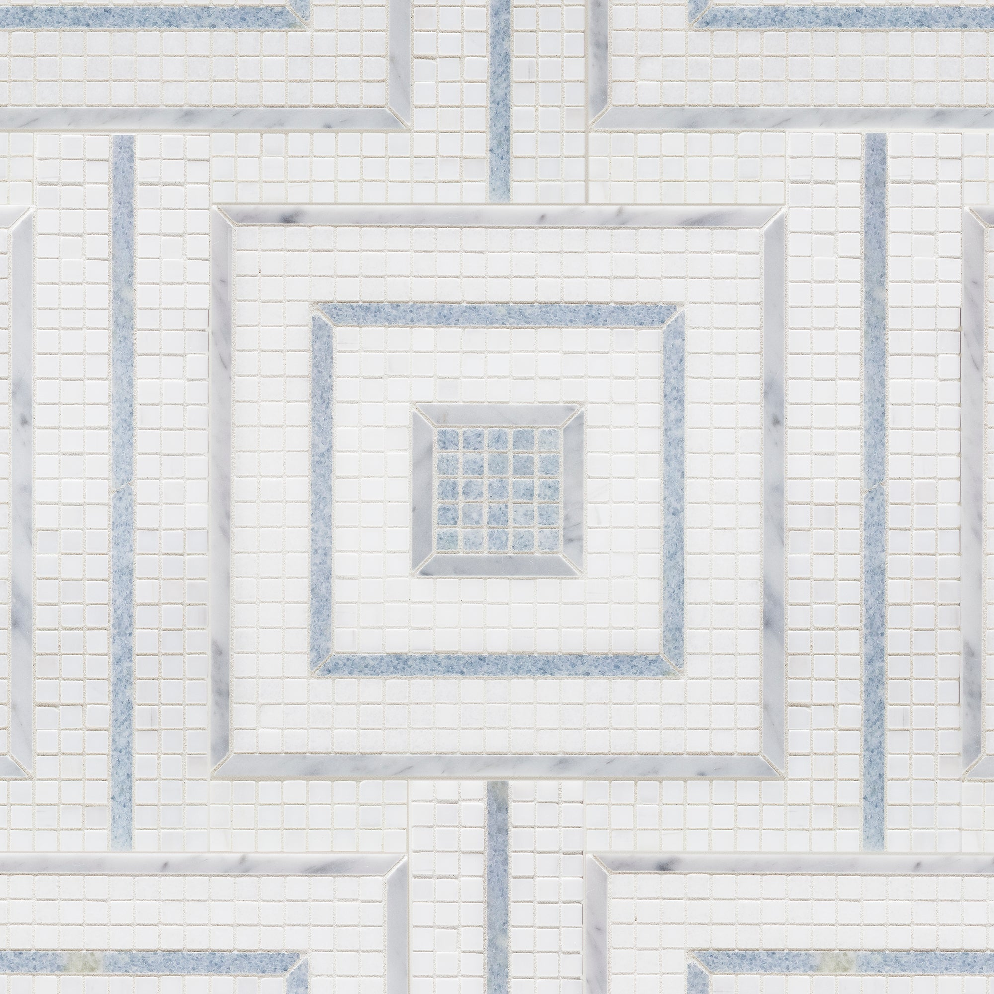 Morningside Heights Square Blue Mosaic product photo