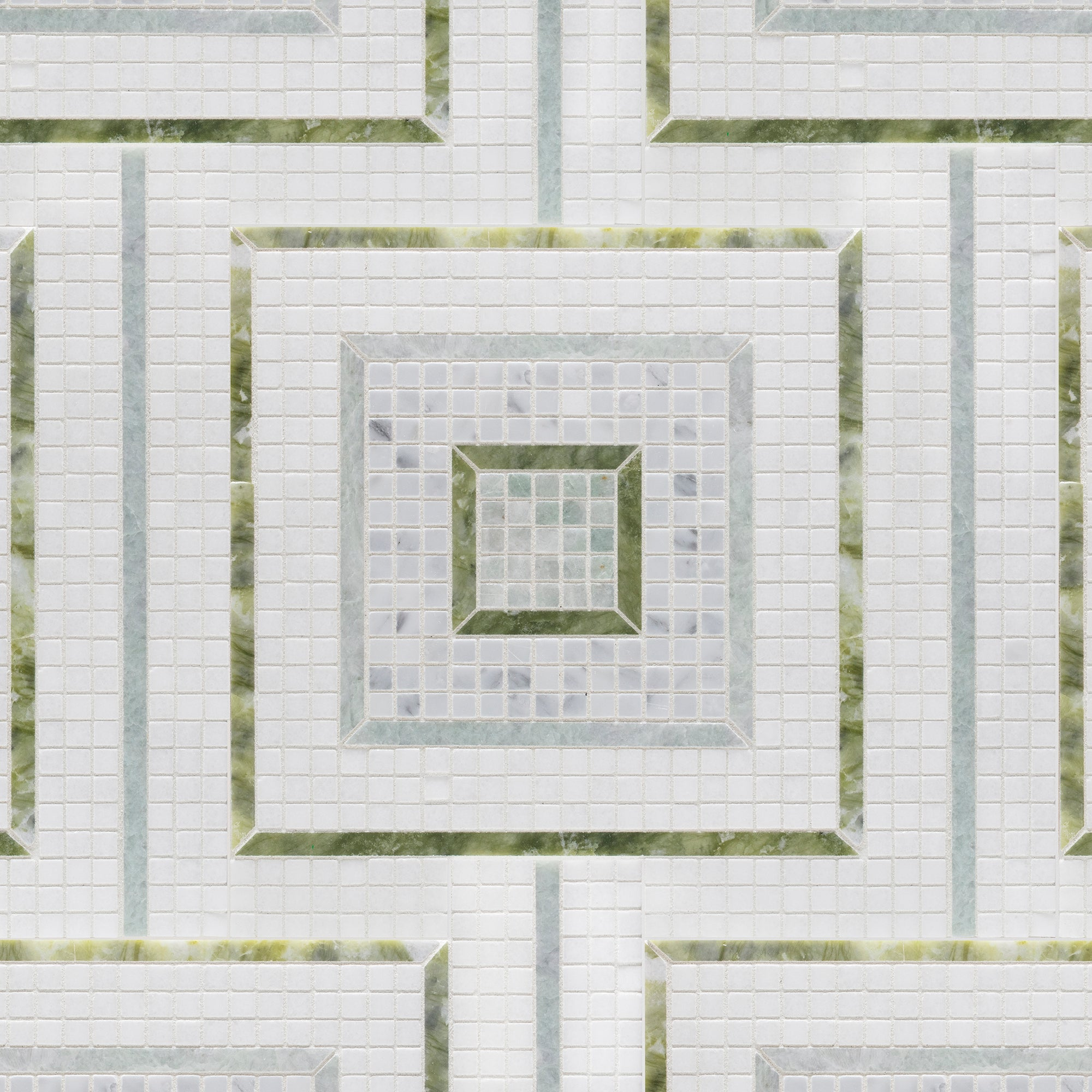 Morningside Heights Square Green Mosaic product photo