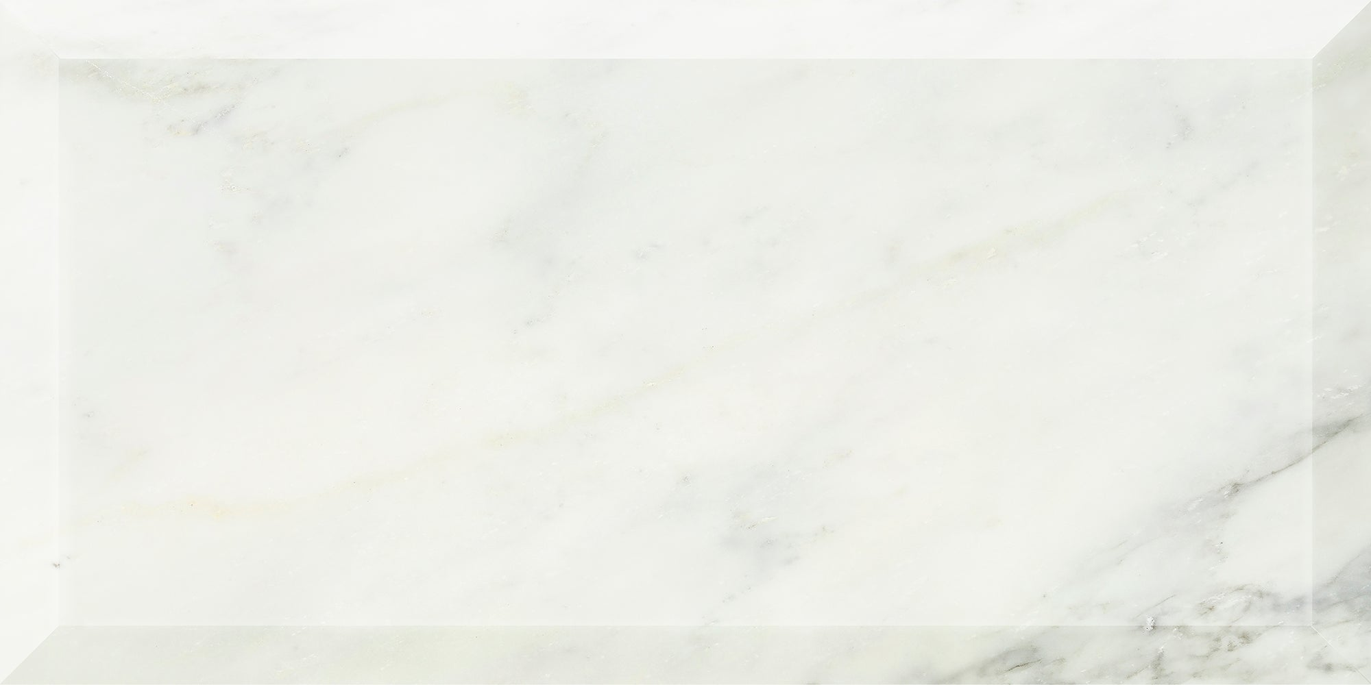 Deep Bevel Pacific White Marble Field Dimensional product photo