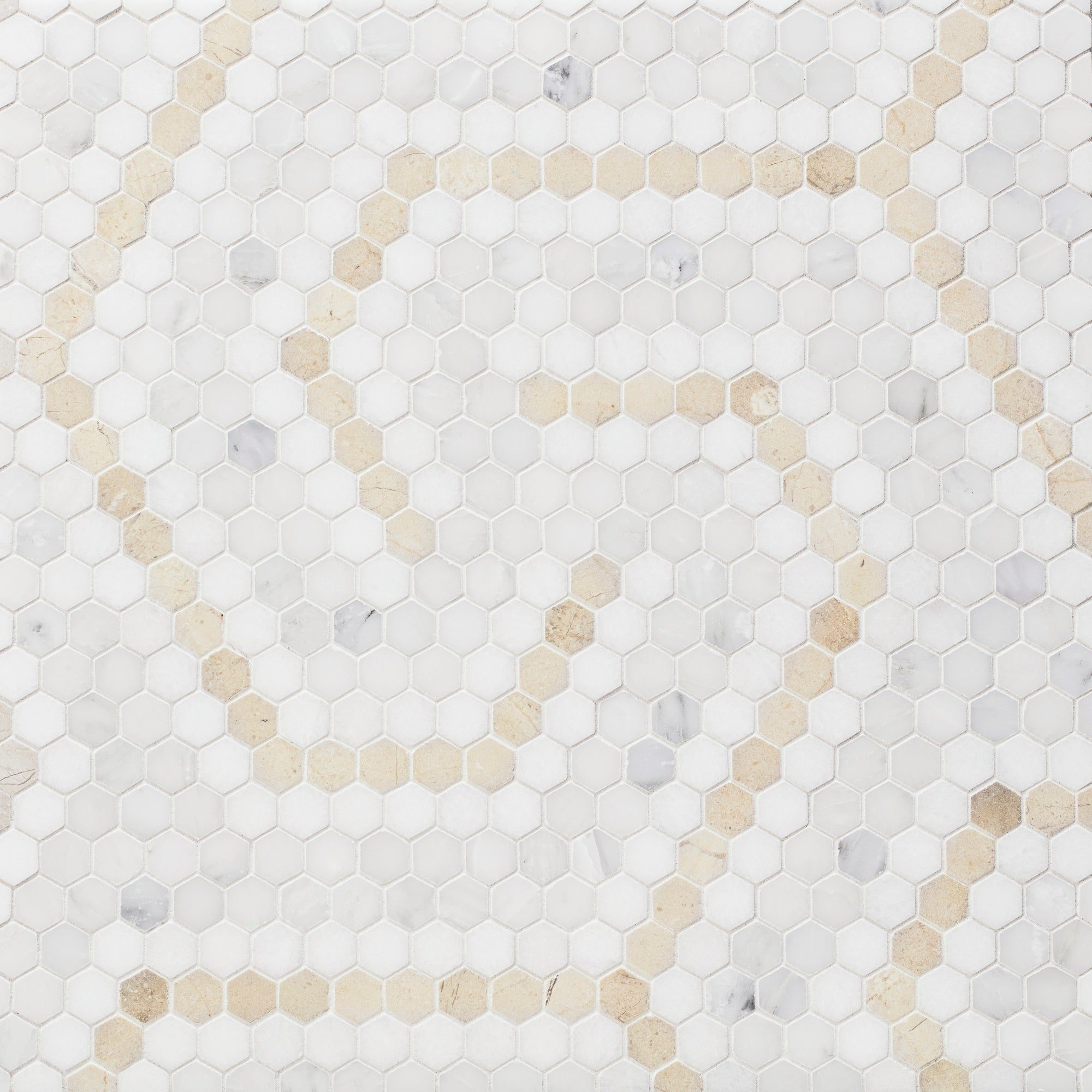 Riverside Drive Swirl Cream Mosaic product photo