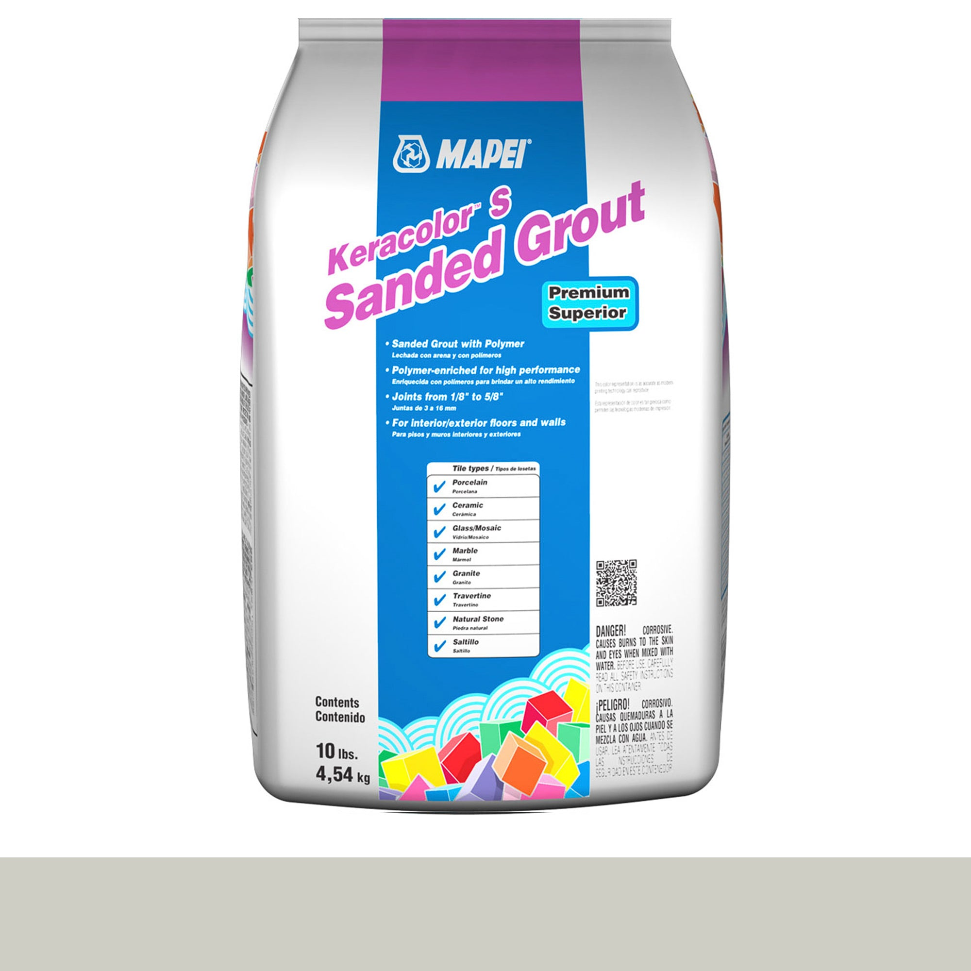 Mapei Keracolor 01-Alabaster 10-Lb Bag Grout Sanded product photo