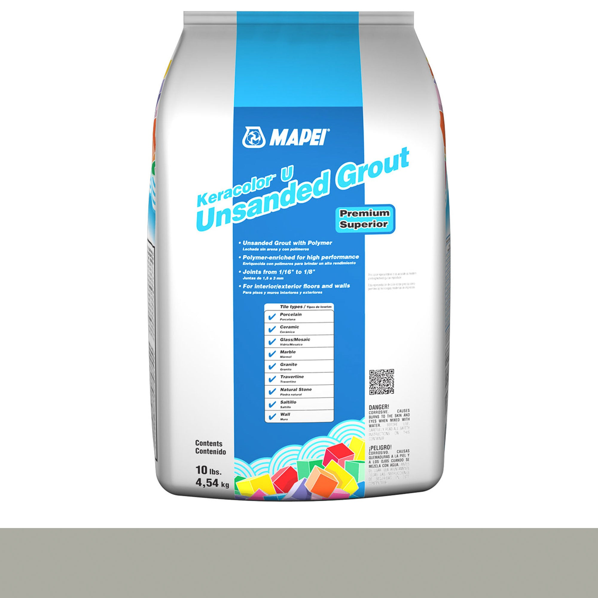 Mapei Keracolor 02-Pewter 10-Lb Bag Grout Unsanded product photo