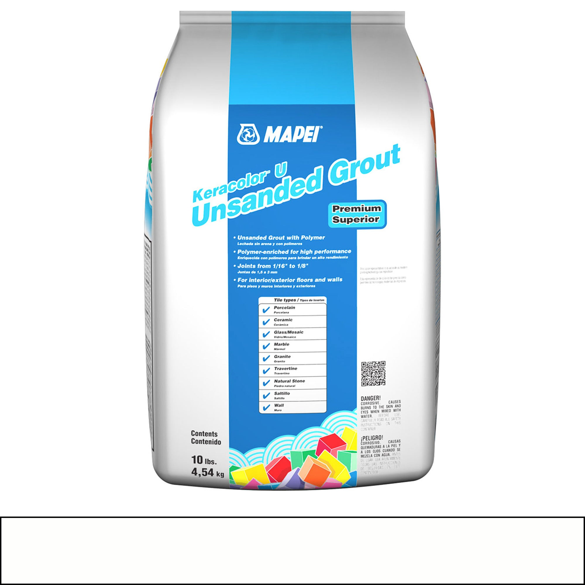 Mapei Keracolor 38-Avalanche 10-Lb Bag Grout Unsanded product photo