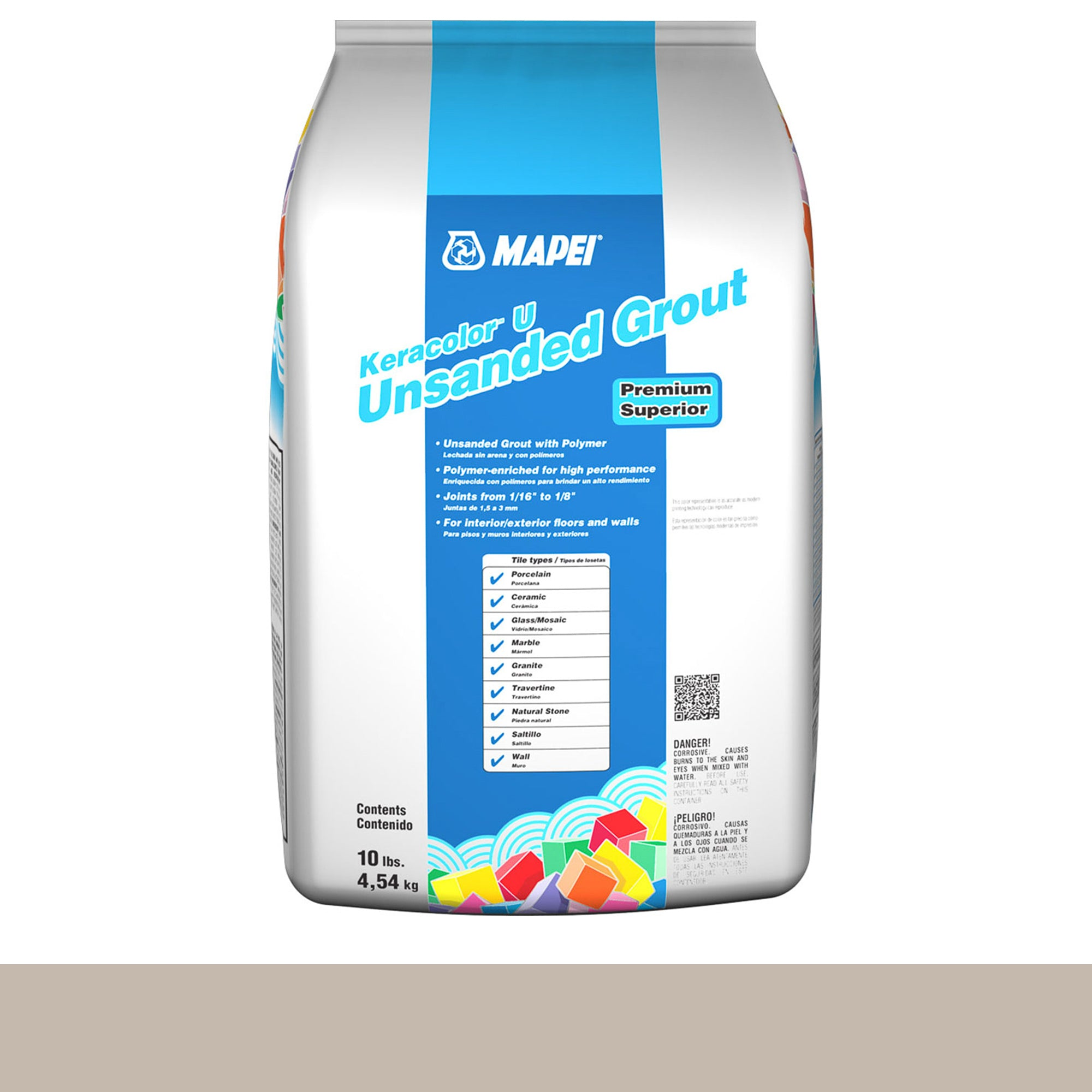 Mapei Keracolor 39-Ivory 10-Lb Bag Grout Unsanded product photo